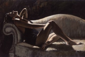 fabian_perez_paola on the couch