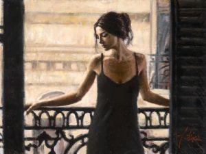 Luciana at the Balcony by Fabian Perez