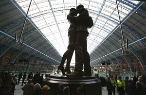 The Meeting Place at St. Pancras station