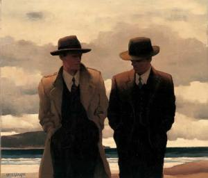 Amateur-Philosophers-Jack-Vettriano-painting-reproduction